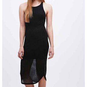 UO Sparkle & Fade Ribbed Black Dress!